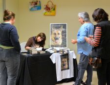 Signing at the Humane Society of Skagit Valley