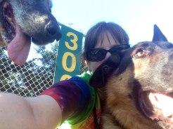 Double-dog selfie